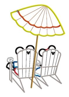 Mister and Miss Mouse Beach Chairs Machine Applique Embroidery Design, $3.75