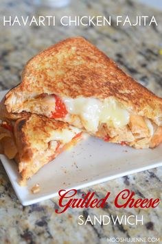 Havarti Chicken Fajita Grilled Cheese Sandwich I did just that. I made oven chicken fajitas and used the leftovers for this sandwich.