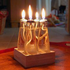 Turn Old Bottles Into Mini Table Lanterns