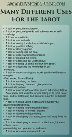 Tip: Many different uses for the tarot ~ Arcane Mysteries | <3 | #BlessedBe | facebook.com/storyfaeryoracle