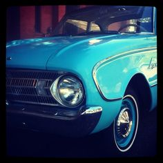 Blue Ford Falcon