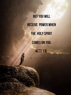 """You will receive power when the Holy Spirit comes on you."" — Acts 1:8 Is this promise only for the early Christians? What do the scriptures say? ""The promise is for you and your children and for all who are far off"" (Acts 2:39). Jesus said, ""If you..."