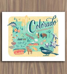 Colorado State Art Print by Anagram Press on Scoutmob