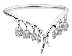 not vintage but impressive .... ramo di mughetti in diamanti di Shaun Leane