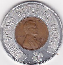 1959-D Encased Wheat Cent Penny Vit-A-Way More Than A Mineral