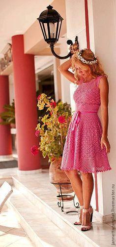 платье крючком вязание