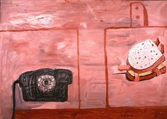 Philip Guston: Anxiety 1975, oil on canvas, 57 1/2 x 80 1/4 inches