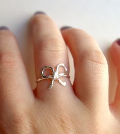 Sterling Silver Bow Ring.