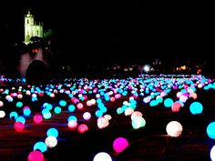 put glowsticks in balloons on the front yard for a summer party Could be used in the color theme of the wedding to decorate for a reception http://www.mervedinger.com