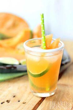 Cantaloupe and Lime Agua Fresca (Gluten Free and Vegan)