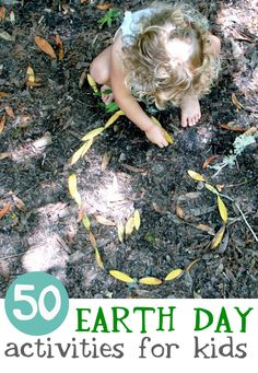 50 Art Activities that use recycled materials, natural materials, or that take place outside