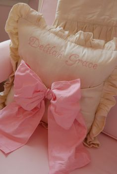 Sweet pillow for little girls room