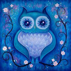 Midnight owl (reminds me of that Black Milk design)