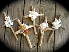 Driftwood Cross and Shells