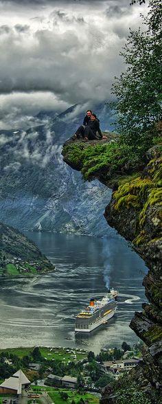 Geiranger, Norway : Flydalsjuvet by Stian Rekdal on Fivehundredpx