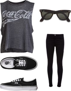 *I love the muscle tank. *With a long sleeved white t-shirt underneath. *With leggings and a skirt over it. *I have my own glasses I wear. *I like the shoes.