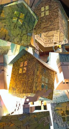 houses made of maps