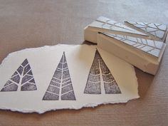 An easy way to conjure up the spirit of old engravings. Love these stamps.