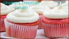 85 Calorie Strawberry Cheesecake Cupcakes