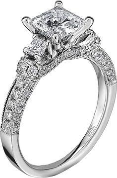 tacori twist pave engagement ring