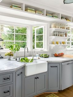 Kitchen California Bungalow Countertops Bright