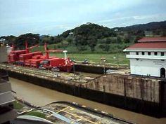 Espectacular cierre de compuertas en el Canal de Panama.AVI
