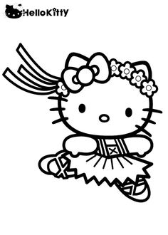 Calico Cat Coloring Pages #9