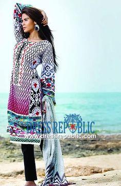 Spring Summer So Kamal Lawn Pakistani Lawn Fashion 2014   by www.dressrepublic.com