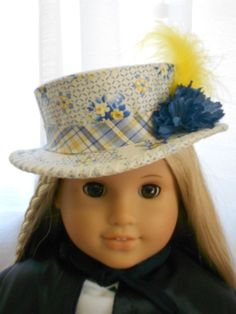 American Girl Doll Clothes Doll Hat by capecodcuriosities