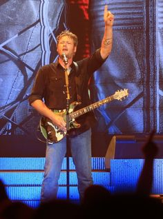 GRAMMY-nominated country singer Blake Shelton reminds his fans why there can only be one Blake during a performance on Oct. 3 in Kansas City, Mo.