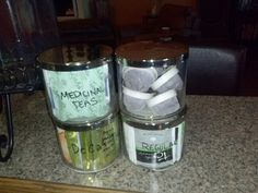 Repurposed Bath and Body works candle jars