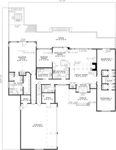 Palm aire adobe style home plan front adobe and palms for Www houseplansandmore com