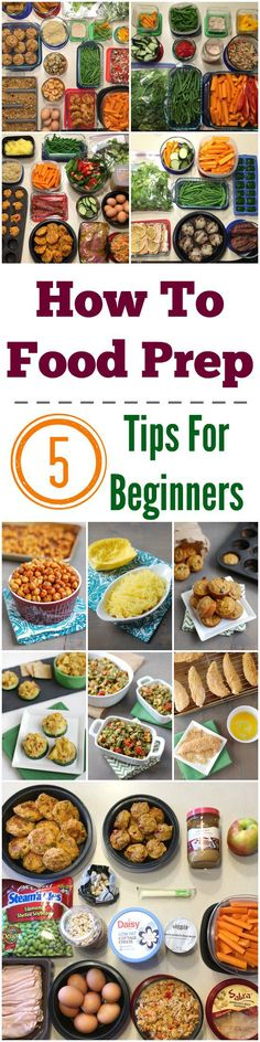 Ready to start prepping food but aren't sure where to start? Here are 5 tips for beginners!