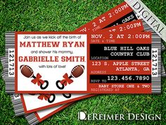 Hey, I found this really awesome Etsy listing at https://www.etsy.com/listing/182892189/sports-ticket-baby-boy-shower-invitation