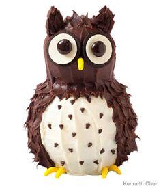 Owl cake.