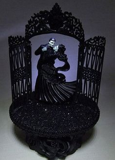 Halloween Wedding Cake Toppers | Wedding Fairytale Dreams Lighted Frankenstein Wedding Cake Topper