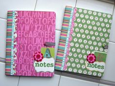 Cover composition books from the dollar store with scrap paper and Shazam! A cute gift! Okay, you can keep this for yourself, I won't tell.