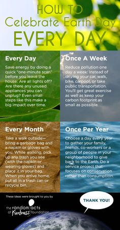 How to celebrate Earth Day every day #earthday #kindness