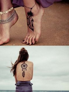 Dreamcatcher  I really think the foot tattoo is cute, I'm considering getting it