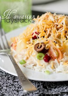 another pinned said: ! We luv haystacks at our house but this sauce is so much better then just using canned cream of chicken:)