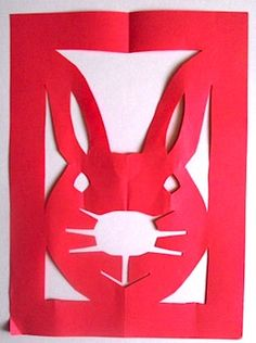 year of the rabbit papercut