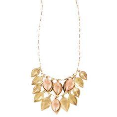 Chloe and Isabel Cluster Leaf Necklace