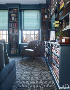 private library in a New York apartment