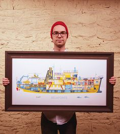 Belafonte Ship Diagram Art Print by Familytree on Scoutmob