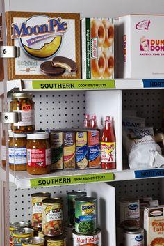 A Southern Foods Shelf - LOVE IT!!