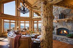log cabin - love the natural light
