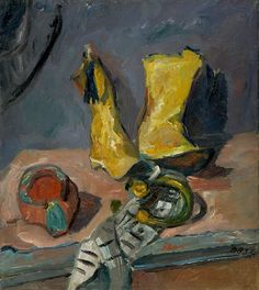 Max Beckmann - Still Life with Yellow Boots, 1912, oil on canvas, 79 x 69 cm | private collection, Germany