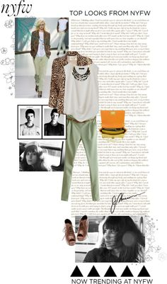 """NYFW"" by i-rena ❤ liked on Polyvore"