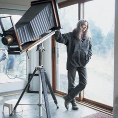 Sally Mann with her 100 year old 8x10 camera.