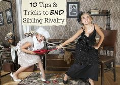 Listening to your kids bicker and argue can really wear a parent out. Check out these 10 Tips and Tricks to END Sibling Rivalry in your home! - abccreativelearning.com